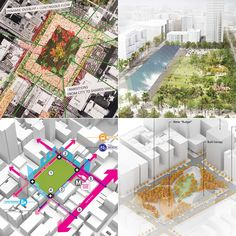 Pershing Square Renew competition narrows down to four finalist teams | Gallery | Archinect