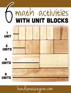 6 Math Activities for Kids Using School Unit Blocks <- fun ways to learn math!