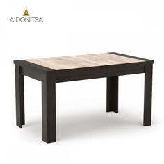 Τραπέζι 135x80 με μοντέρνα διχρωμία κατάλληλο για την τραπεζαρία και την κουζίνα. Από την Alphab2b.gr Dining Room, Table, Furniture, Home Decor, Products, Decoration Home, Room Decor, Tables, Home Furnishings