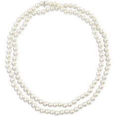 Chico's Perla Long Faux-Pearl Necklace ($69) ❤ liked on Polyvore featuring jewelry, necklaces, pearl, multi layered necklace, simulated pearl necklace, layered necklace, chicos jewelry and long jewelry