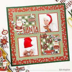 Ho, Ho, Ho! by Kylie Kingham – Simple Stories Scrapbook Paper Crafts, Scrapbook Pages, Scrapbooking, Kylie K, Simple Stories, Christmas Scrapbook, Jingle All The Way, Grid Design, All Paper