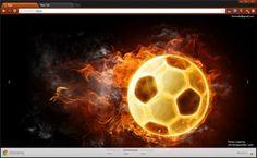 fiery-football-google-chrome-theme