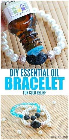 DIY Essential Oil Bracelet for Cold Relief - Got the sniffles? This easy-to-make bracelet is a fun way to help relieve cold symptoms all-naturally!
