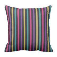 Striped Patterns Throw Pillow