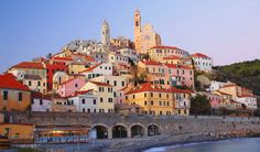 Liguria Riviera di Ponente - Cervo - Overlooking the sea, Cervo is one of the most beautiful towns in Liguria and Italy. Dotted with Churches and alleys, it is perfect for a daily trip.    #TuscanyAgriturismoGiratola