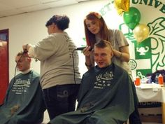 Students at Marquette University shave their heads to benefit the St. Baldrick's Foundation. Read this article for The Marquette Tribune