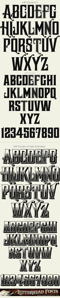 Letterhead Fonts / LHF Cavalero font set / Vintage Fonts