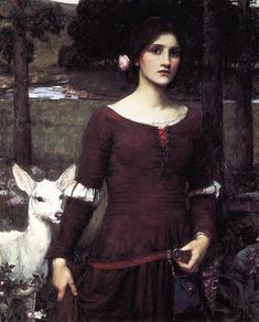 The Athenaeum -WATERHOUSE, John William English Pre-Raphaelite (1849-1917)_The Lady Clare- 1900