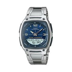 Shop Casio Illuminator Silver Tone Databank World Time Analog  Digital Chronograph Watch - Men online at lowest price in india and purchase various collections of Sport Watches in Casio brand at grabmore.in the best online shopping store in india