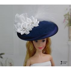 Chapeau Barbie capeline, casquette Fashion Royalty Silkstone Poppy Parker handmade by Accessoires Barbie, Poppy Parker, Poppies, Royalty, Hats, Handmade, Fashion, Barbie Dolls, Cap