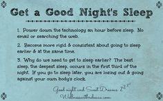 Get a Good Night's Sleep          #Sleep