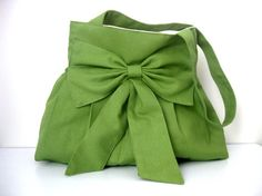 LOVE THIS!!!  Sale BagGreenEveryday BagDouble Straps by marbled on Etsy, $36.00