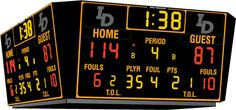Daktronics BB-2124 Tuff Sport Four-Sided Basketball Scoreboard  For my NBA bound prince