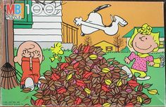 Peanuts Fall puzzle-late 70's or early 80's | Flickr - Photo Sharing!