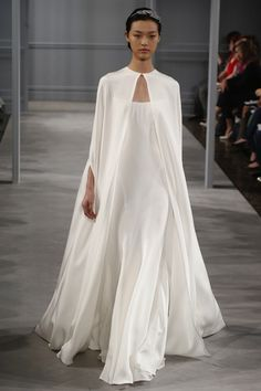 Monique Lhuillier Spring Bridal 2014. Sleek, modern, love it. The Bridal Collective blog.