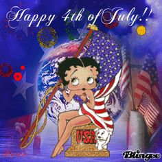 Happy 4th of July from Betty Boop