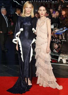 5 Reasons Why Carol's Cate Blanchett and Rooney Mara Are the Ultimate Red Carpet Duo - They know the power of dramatic details   - from InStyle.com