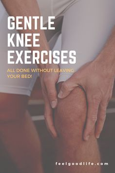 Time to say goodbye to joint help...naturally! Check out these three gentle knee strengthening exercises you can do right from bed! Do these knee strengthening exercises everyother day for a few weeks and see how your joint pain decreases! #feelgoodlife #kneestrengthening Aching Knees, Knee Strengthening Exercises, How To Strengthen Knees, Isometric Exercises, Ligaments And Tendons, Bed Workout, Knee Pain Relief, Thigh Muscles