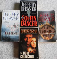 Jeffery Deaver Lot of 4 The Burning Wire~The Coffin Dancer~Bone Collector +