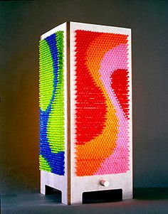 Designer: Lou Henry for Elseware Do you remember lite brite? I remember lite brite. I had no idea they were still around, but designer Lou Henry seems to have found enough of the little fuses to make these cool little. Lite Brite, Tech Gadgets, Cool Gadgets, I Love Lamp, Cool Technology, Projects To Try, Art Projects, Geek Stuff, Artsy