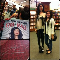 Kat Von D and I at her book signing in Las Vegas. I've look up to her for so long and meeting her just makes you love her more. She is the nicest person and so down to earth.