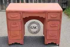 The Vintage Miss Mustard Seed Apron Strings Desk | Gates Shabby Chic #MMSMP #milkpaint #Apronstrings