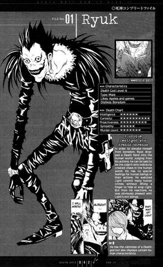 Shinigami Ryuk - Death Note (yeah you could say that he is the one responsible for the story of Death Note (in-universe), of course out-universe we have Tsugumi Ohba and Takeshi Obata)