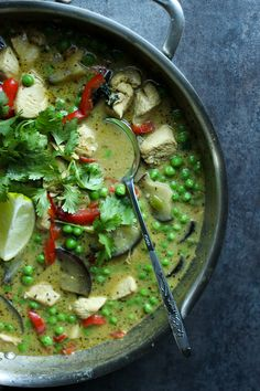 Easy Thai Green Curry (food, recipes)