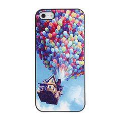 Colorful ballons Caisse dure de PC de modèle avec cadre noir pour iPhone 5/5S – USD $ 2.39