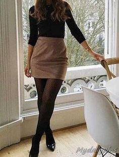 15 Classy Fall Winter Work Outfits Ideas - #Classy #fall #Ideas #Outfits #winter #Work Winter Dress Outfits, Casual Dress Outfits, Winter Outfits For Work, Winter Outfits Women, Fall Dresses, Business Casual Outfits For Work, Classy Work Outfits, Classy Dress, Work Casual