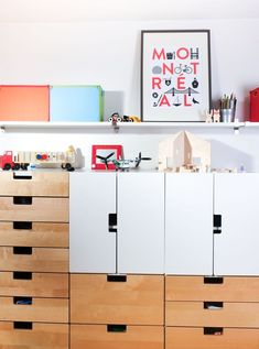 Shared room - Ikea storage and lots of sweet details