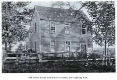 """Photograph of the home of Samuel Parris, """"The House Where Witchcraft Started"""", published in """"Witchcraft Illustrated"""" by Henrietta D. Kimball in 1892"""
