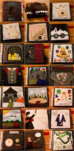 Harry potter Monster book Quiet Book/ Soft Activity Book for Babies and Toddlers. Tissu Harry Potter, Harry Potter Hogwarts Letter, Harry Potter Quilt, Harry Potter Fiesta, Theme Harry Potter, Harry Potter Diy, Diy Quiet Books, Baby Quiet Book, Felt Quiet Books