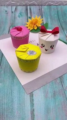 D ont throw away your used water glasses,make them into small storage boxes , paper craft diy