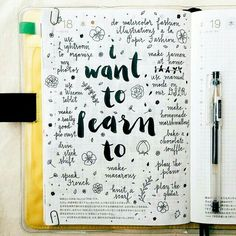 "// cute ""i want to learn... "" page //"
