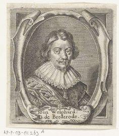 1632 Portret van Joan Wolfert van Brederode, heer van Vianen, Crispijn van de Passe (II)