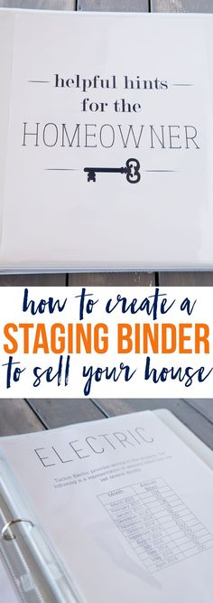 Create a staging binder using these free printable pages to help set your home apart from competing houses on the market!