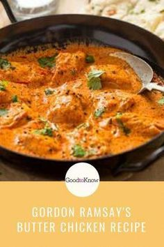 Gordon Ramsay's butter chicken Gordon Ramsay's butter chicken recipe is so easy to make at home and tastes delicious too. It includes a butter chicken sauce and spice rub for the chicken. Gordon Ramsay Butter Chicken Recipe, Butter Chicken Rezept, Butter Chicken Sauce, Easy Butter Chicken Recipe, Buttered Chicken Recipe, Chicken Butter Masala, Vegetable Appetizers, Healthy Recipes, Dinner Recipes