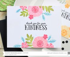 """I never seem to have enough """"Thank You"""" cards on hand. When I designed the new Feathers & Florals  stamp set, I kept quick and easy cards in..."""