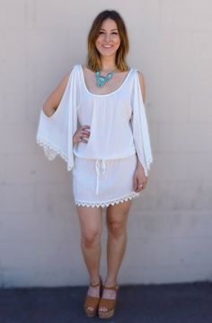 White dresses are spring's hottest trend! #Dreamgirlsob love this