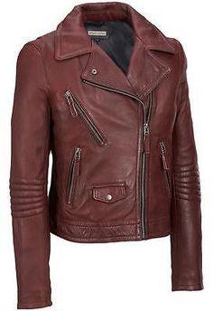 Black Rivet Womens Leather Motorcycle Jacket