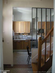 Maison années 30, Aurore Pannier - Côté Maison Herd, Kitchen Furniture, Home Remodeling, Kitchen Remodel, Sweet Home, New Homes, Loft, Architecture, Table