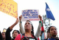 Manifestacion Mapuche, Chile