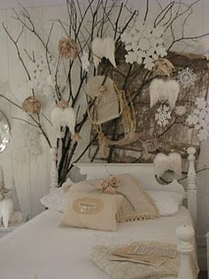 angel wings, branches, barn wood, rosetts, dreamy white~ ahhh