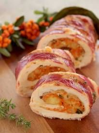 Thanksgiving Turkey Roulade with Pumpkin & Cranberry Stuffing - The Petite Cook | The Petite Cook