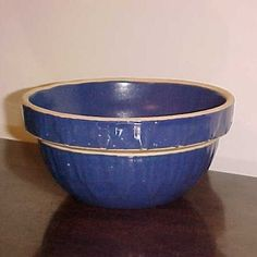 Blue yellow ware vintage bowl - I have one like this from my grandma - love it.