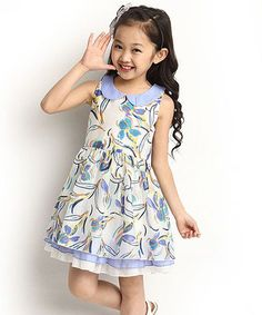 Look at this Dolce Liya Lavender Floral Dress - Girls on today! Fashion Kids, Girl Fashion, Toddler Girl Dresses, Girls Dresses, Summer Dresses, Kids Formal Wear, Kids Outfits, Cute Outfits, Couture
