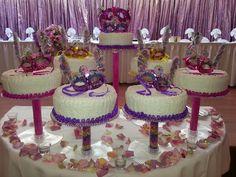 sweet 16 masquerade party ideas | The birthday cake | Alexis' Sweet 16 Masquerade Ball Ideas