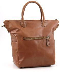 Pull Up Leather Madrid Shopper Leder saddle brown 40 cm