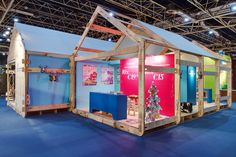 The Inside stand building realized, designed and built the stands for the Margriet Winterfair at Jaarbeurs Utrecht, The Netherlands